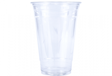 clear plastic PET cup